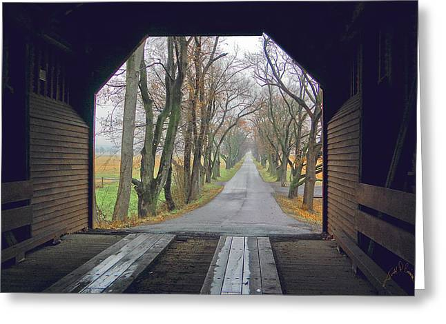 Inside Meems Bottom Bridge Greeting Card