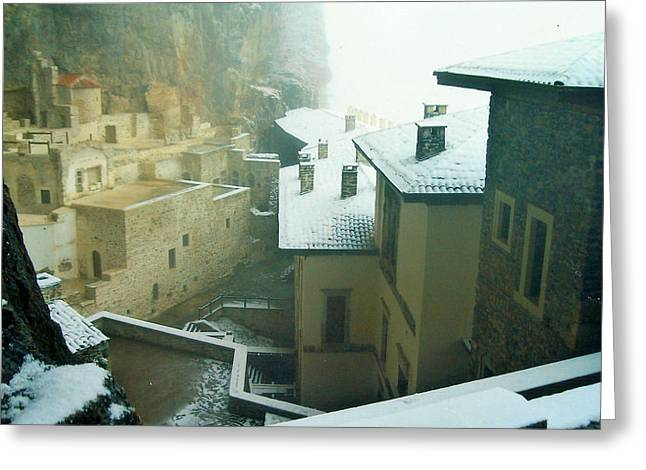 Greeting Card featuring the photograph Inside The Monastery by Lou Ann Bagnall