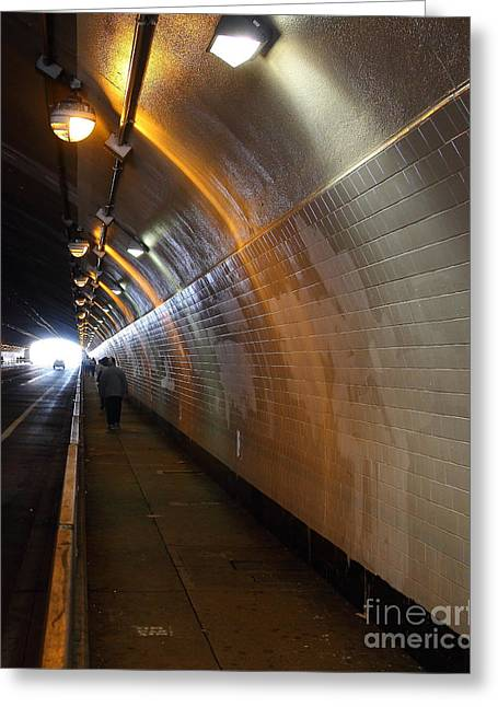 Inside The Stockton Street Tunnel In San Francisco . 7d7363.1 Greeting Card