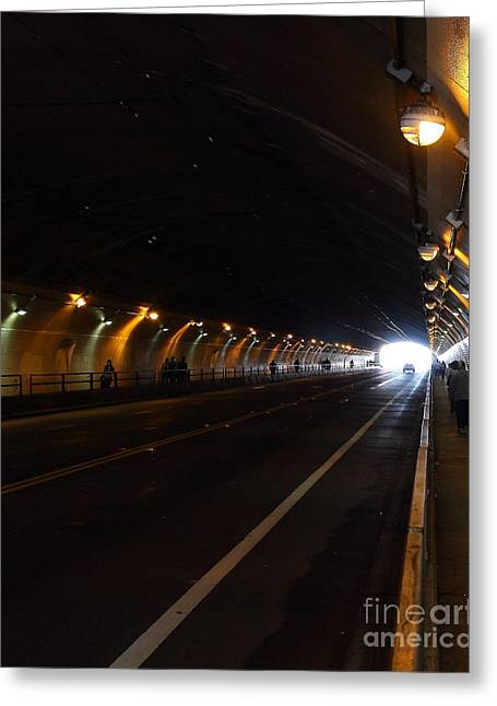 Inside The Stockton Street Tunnel In San Francisco . 7d7363.2 Greeting Card