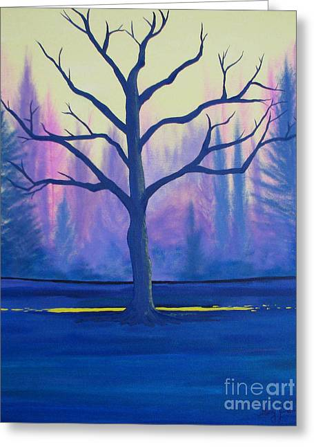 Greeting Card featuring the painting Inspiration Tree by Stacey Zimmerman