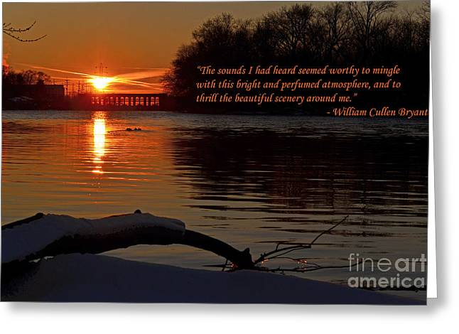 Inspirational Sunset With Quote Greeting Card by Sue Stefanowicz