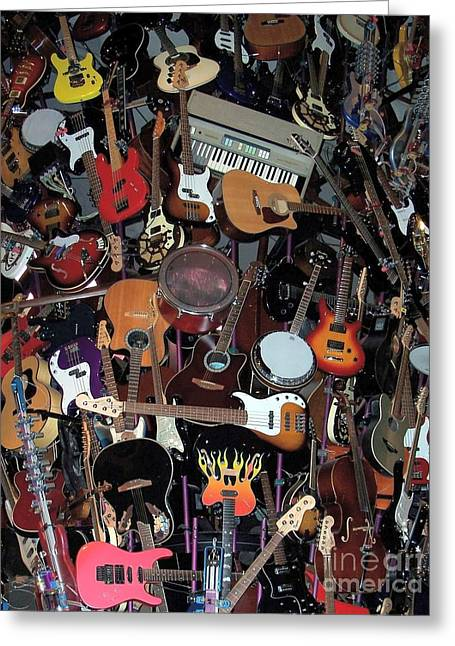 Instruments Greeting Card by Chalet Roome-Rigdon