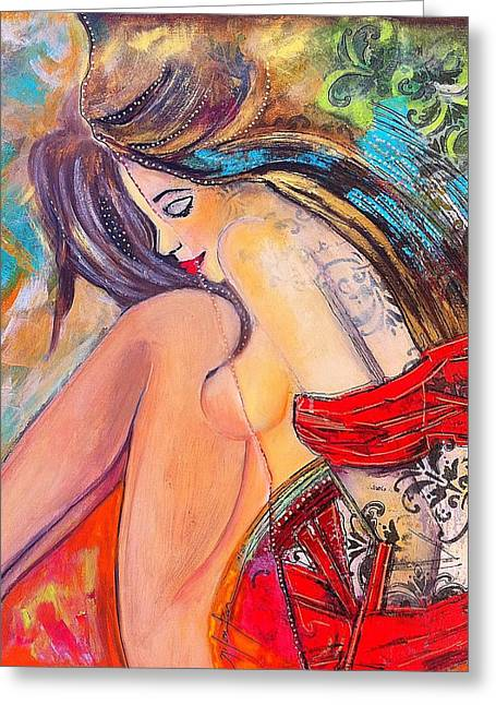 Intangible Feeling Greeting Card by Niloufar Hoveyda