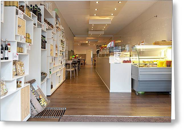 Interior Of A Lunchroom In The Hague Greeting Card by Corepics