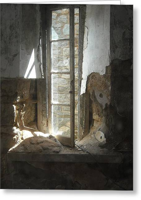Interior Window Greeting Card by Christophe Ennis