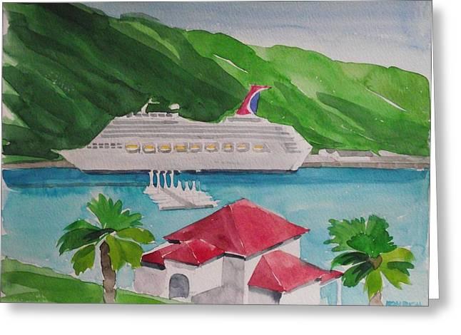International Dock  And  Marina Greeting Card by Robert Rohrich