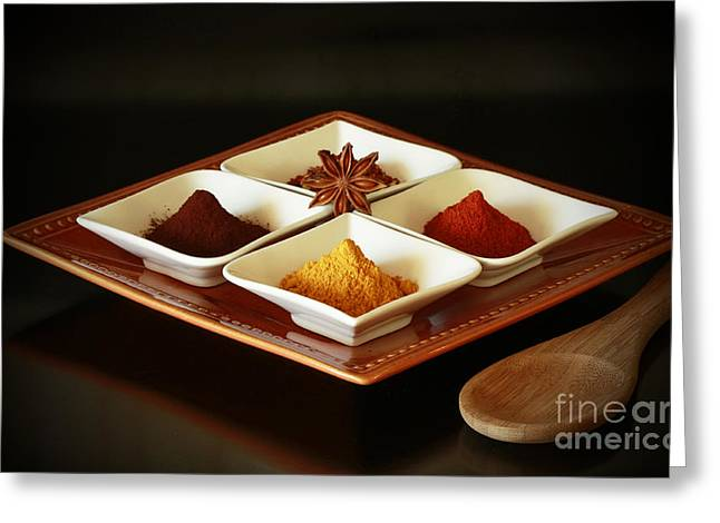 International Kitchen Spices Greeting Card by Inspired Nature Photography Fine Art Photography