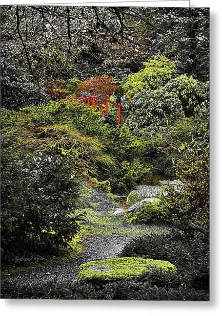 Intimate Garden Greeting Card by Ken Stanback