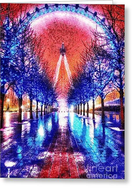 Into The Eye Greeting Card by Mo T