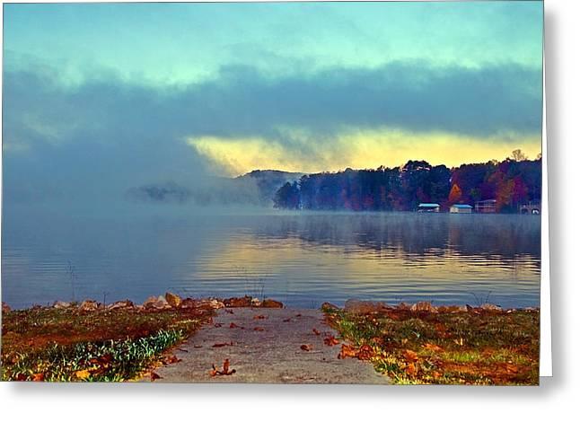 Into The Fog Greeting Card by Susan Leggett