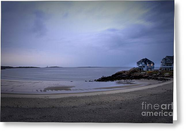 Into The Night In Cape Ann Greeting Card by Brenda Giasson
