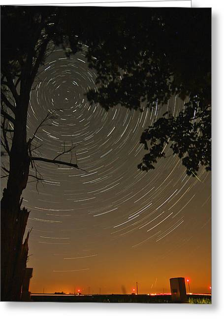 Into The Night Greeting Card by Jim Finch