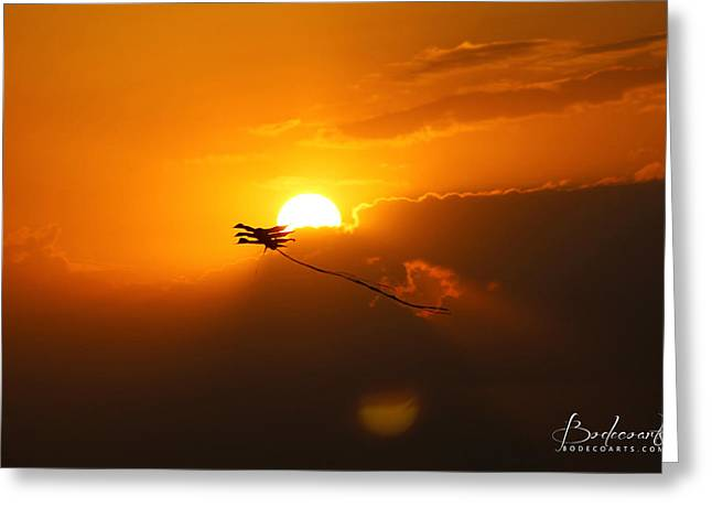 Into The Sun Greeting Card by Robin Lewis