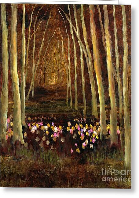 Into The Woods-tulips Greeting Card