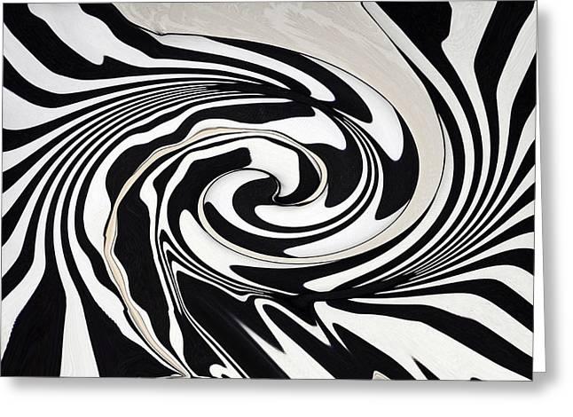 Intoxicated Zebra..... Greeting Card by Tanya Tanski