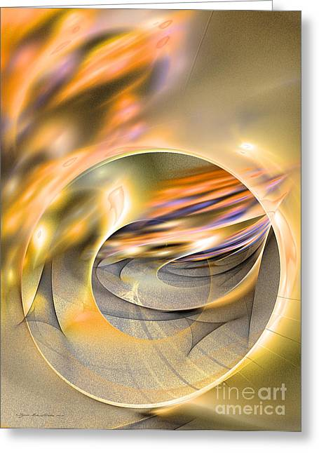 Intrinsic Flame Greeting Card by Sipo Liimatainen