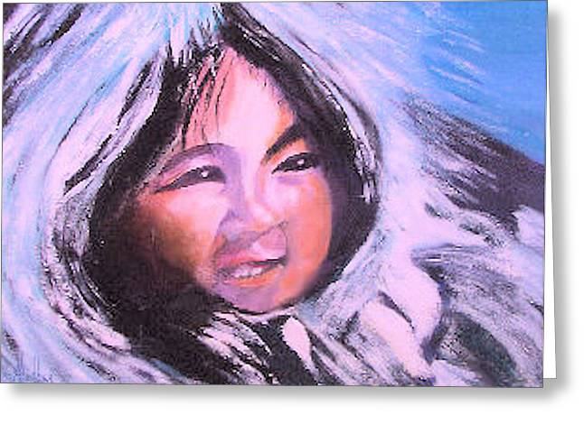 Inupiaq Eskimo Child Greeting Card
