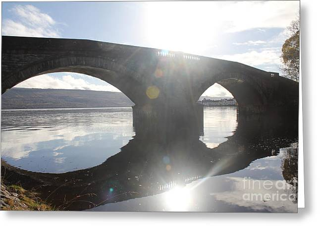 Inveraray Bridge Greeting Card by David Grant