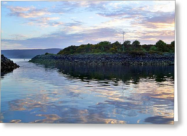 Greeting Card featuring the photograph Inverkip Marina by Lynn Bolt