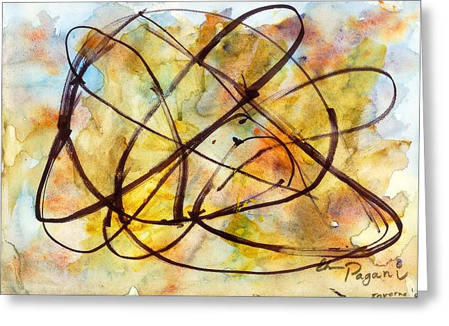 Inverno Abstract Watercolor Greeting Card