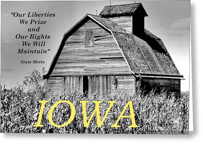 Greeting Card featuring the photograph Iowa Pride by Lin Haring