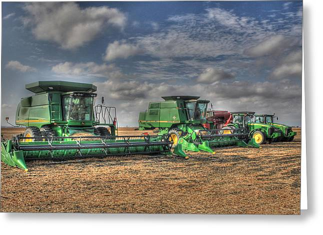 Iowa Soybean Pickers Greeting Card