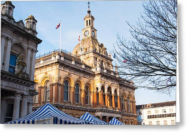 Ipswich Town Hall Greeting Card by Andrew  Michael