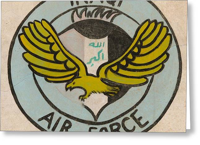 Iraqi Air Force Crest Greeting Card by Unknown