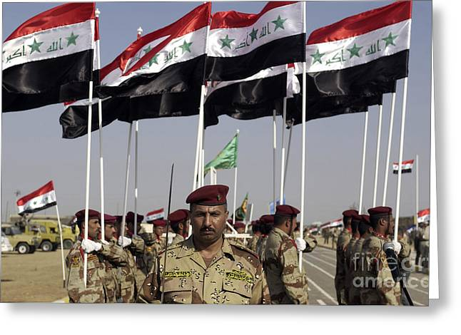 Iraqi Army Soldiers Standing Greeting Card