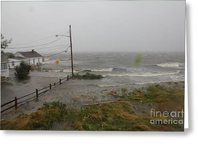 Irene And The Great South Bay Greeting Card by Scenesational Photos