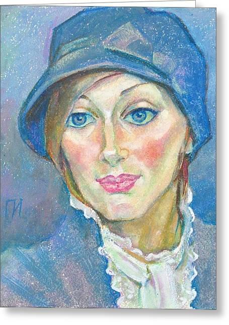 Irina Bondareva Greeting Card by Leonid Petrushin