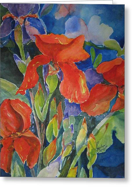 Iris Ablaze Greeting Card