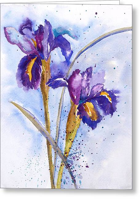 Iris Purple Greeting Card