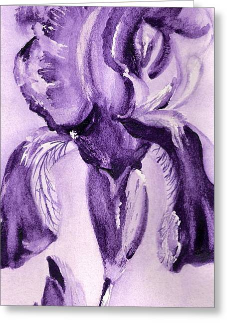 Iris Study In Purple Greeting Card