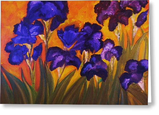 Irises In Motion Greeting Card