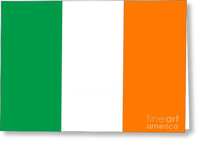 Irish Flag Greeting Card by Steev Stamford