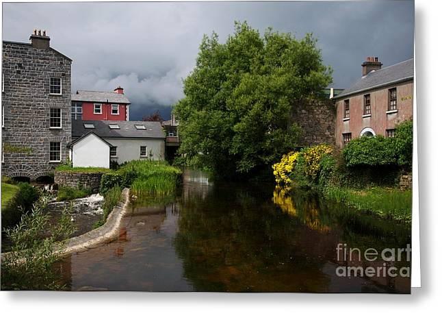 Irish Houses Greeting Card by Louise Fahy