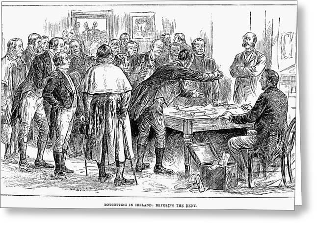 Irish Land League, 1886 Greeting Card by Granger