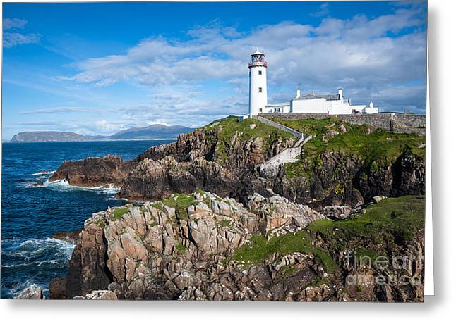 Irish Lighthouse Greeting Card by Andrew  Michael