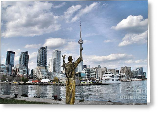 Irish Park - Toronto Skyline Greeting Card