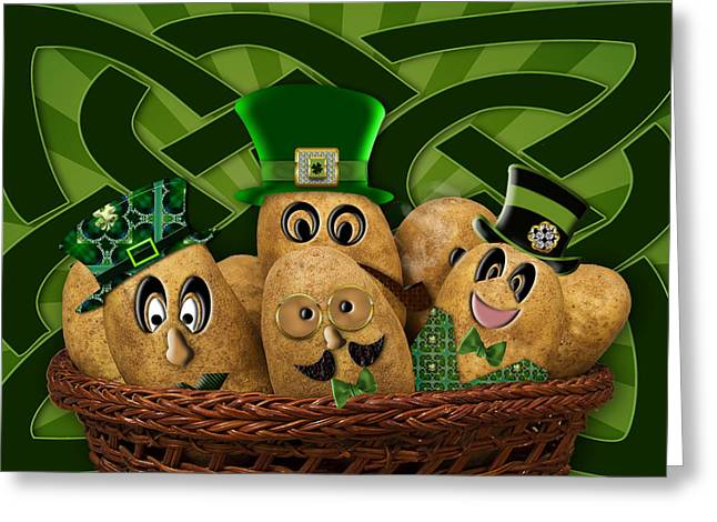 Irish Potatoes Greeting Card by Trudy Wilkerson
