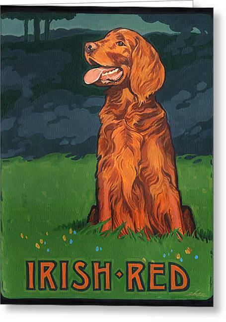 Irish Red Greeting Card