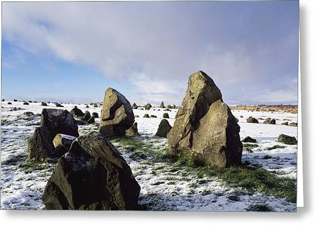 Irish Snow Scenes Co Tyrone, Beaghmore Greeting Card by The Irish Image Collection