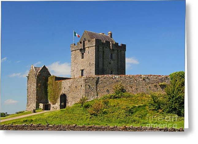Irish Travel Landscape Dunguaire Castle Ireland Greeting Card