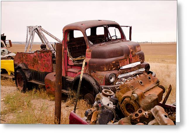 Iron Boneyard 5 Greeting Card by Matthew Angelo