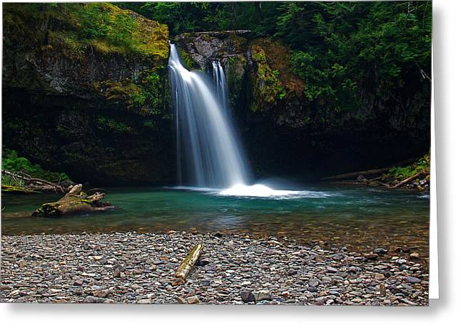 Iron Creek Falls 2 Greeting Card by Marcus Angeline