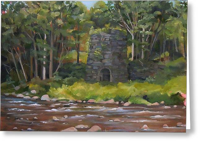 Iron Furnace Of Franconia New Hampshire Greeting Card