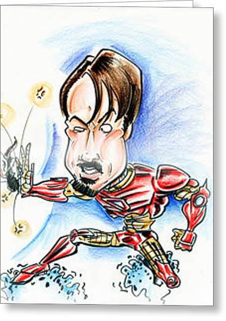 Iron Man Greeting Card by Big Mike Roate