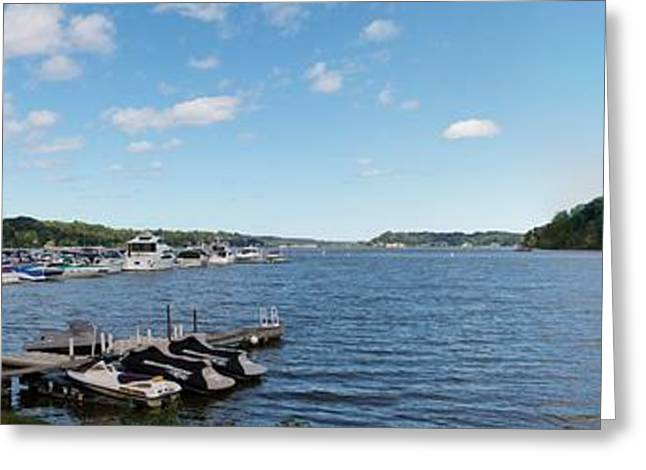 Greeting Card featuring the photograph Irondequoit Bay Panorama by William Norton